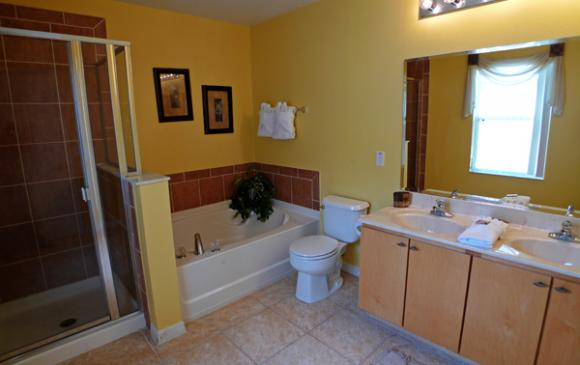 Master Bathroom - Pine Forest Chateau - 5 bedroom Walt Disney World Area vacation home - Homes4uu