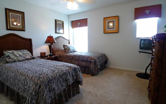 Bedroom 4- Pine Forest Chateau - 5 bedroom Walt Disney World Area vacation home - Homes4uu