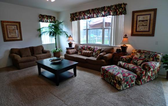 Open Plan Living Room Area - Pine Forest Chateau - 5 bedroom Walt Disney World Area vacation home - Homes4uu