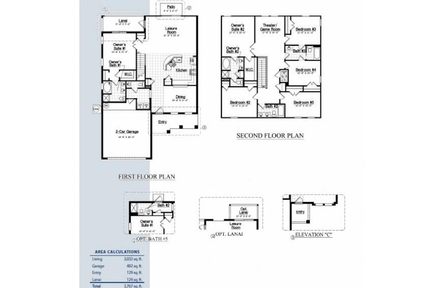 Floor Plan - Calabria at Westside - 6 Bedroom luxury vacation home - Homes4uu