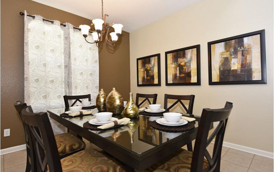 Formal Dining Room - Mizzen Staysail - 5 Bedroom Kissimmee Area Private Pool Home - Homes4uu