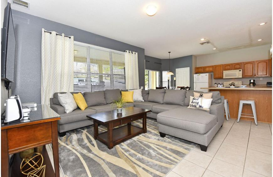 Great Room and Lounge Area - Aid to Navigation - 4 bedroom Kissimmee vacation villa - Homes4uu