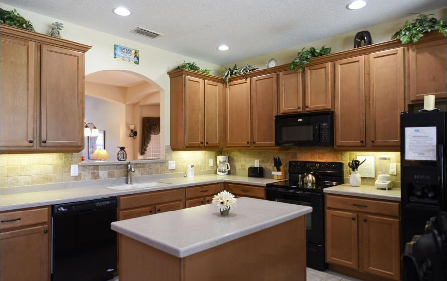 Kitchen - Day Beacon - 6 Bedroom Disney World Area Vacation Home - Homes4uu
