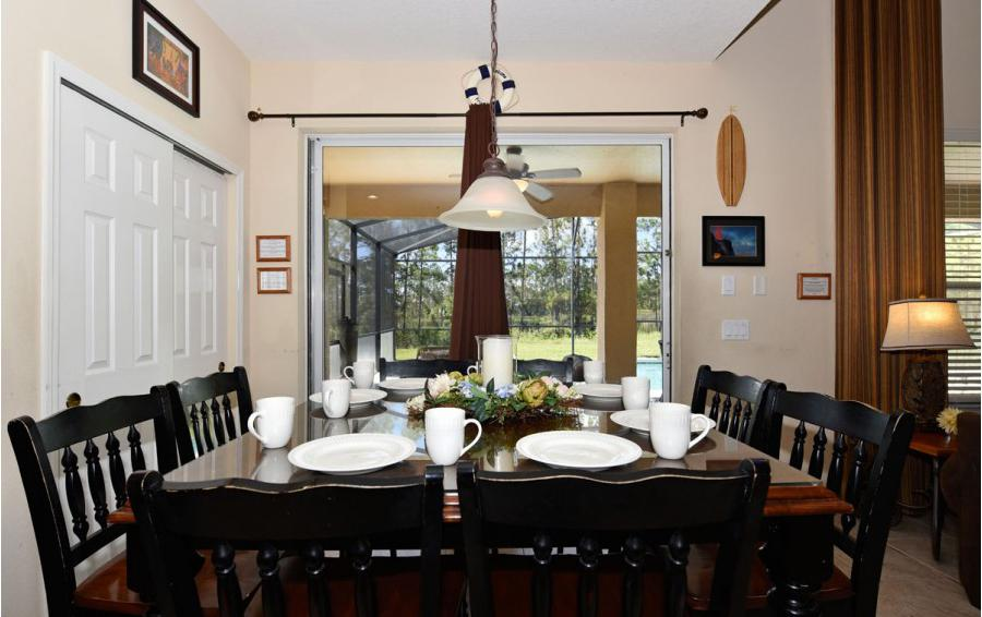 Dining Room - Day Beacon - 6 Bedroom Disney World Area Vacation Home - Homes4uu