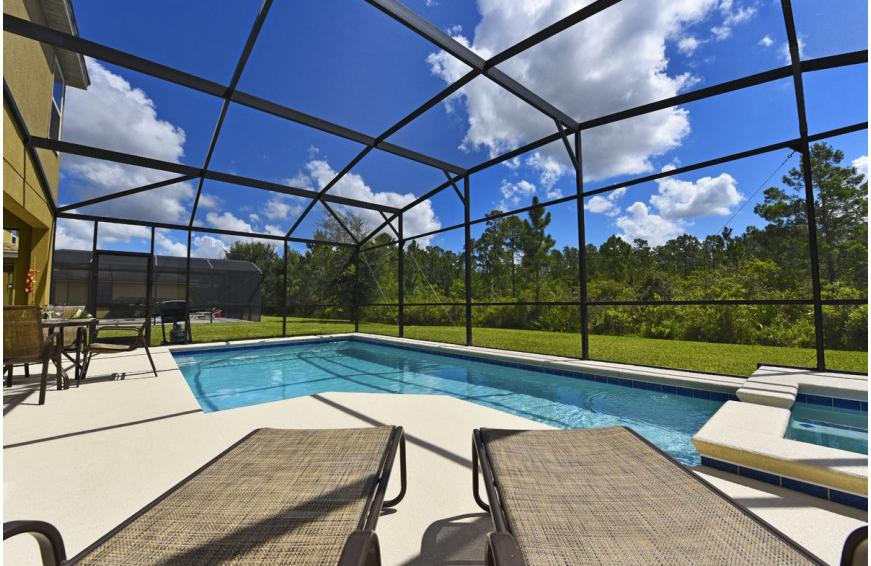 Pool Deck - Calabria at Westside - 6 Bedroom luxury vacation home - Homes4uu