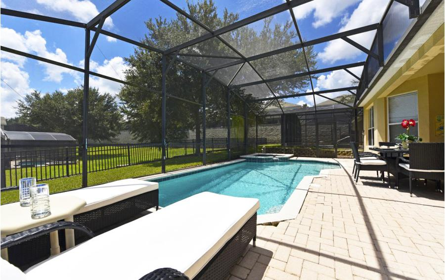 Private Pool Deck - Mizzen Staysail - 5 Bedroom Kissimmee Area Private Pool Home - Homes4uu