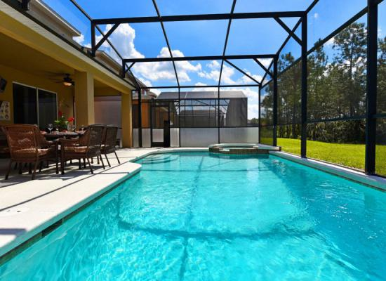 Private Pool and Spa - Day Beacon - 6 Bedroom Disney World Area Vacation Home - Homes4uu