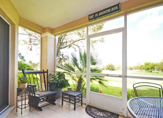 Screened In Back Patio - Fairways Townhome - 3 Bedroom Southern Dunes Vacation Townhome - Homes4uu
