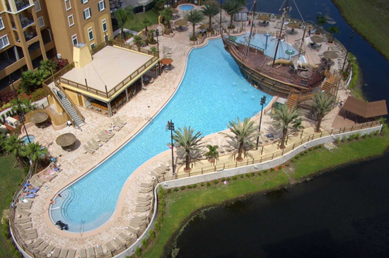 Lake Buena Vista Resort Pool Ariel View