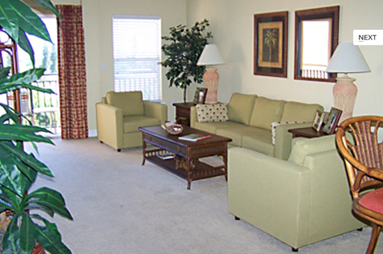 Living Room - 1 Bedroom Condo - Madeira Bay Resort and Spa - Homes4uu