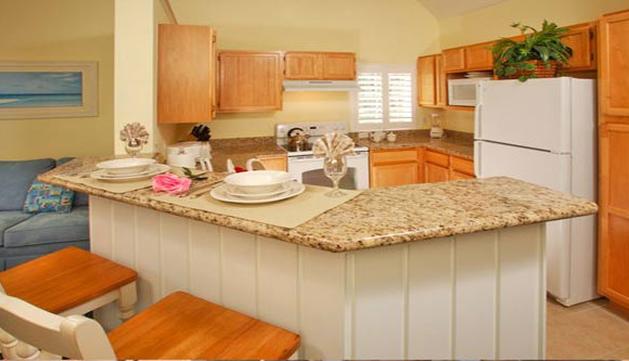 Fully Equipped Kitchen - Runaway Beach Club resort condominium - 3 bedroom Condo - Homes4uu