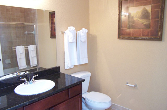 Bathroom - Tuscana Resort Condo - Orlando Area Resorts - Homes4uu