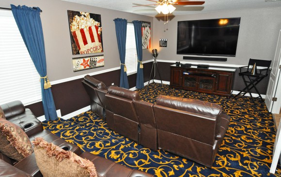Orlando vacation home - 8 Bedroom - Sternway - Homes4uu - Theater Room