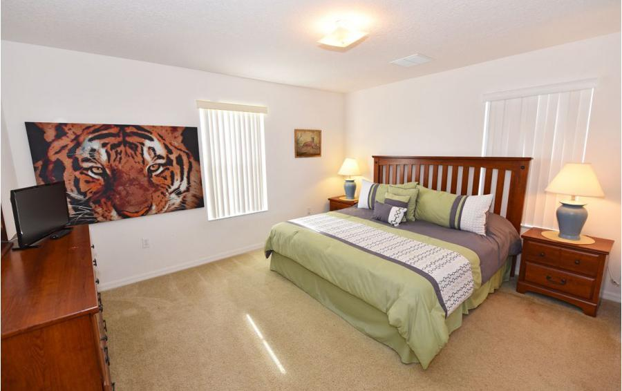 Bedroom 3 - Cofferdam II - 6 Bedroom Disney World Area Vacation Home - Homes4uu