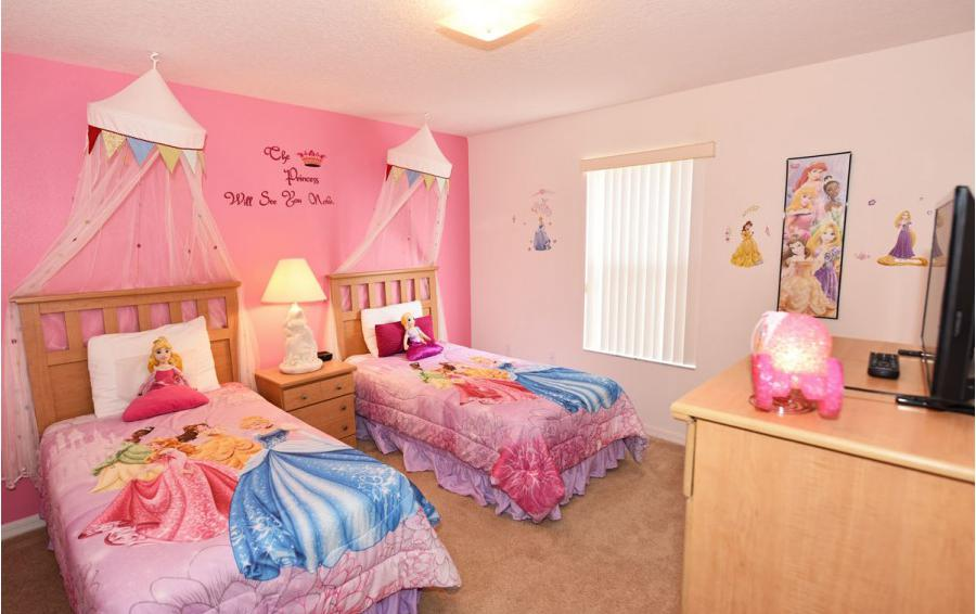 Bedroom 6 - Cofferdam II - 6 Bedroom Disney World Area Vacation Home - Homes4uu