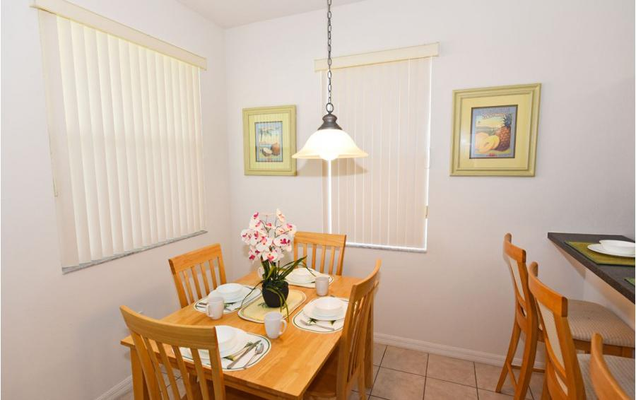 Breakfast Nook - Cofferdam II - 6 Bedroom Disney World Area Vacation Home - Homes4uu