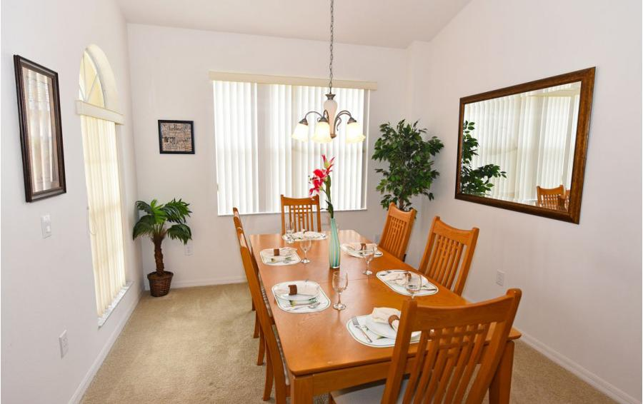 Dining Room - Cofferdam II - 6 Bedroom Disney World Area Vacation Home - Homes4uu