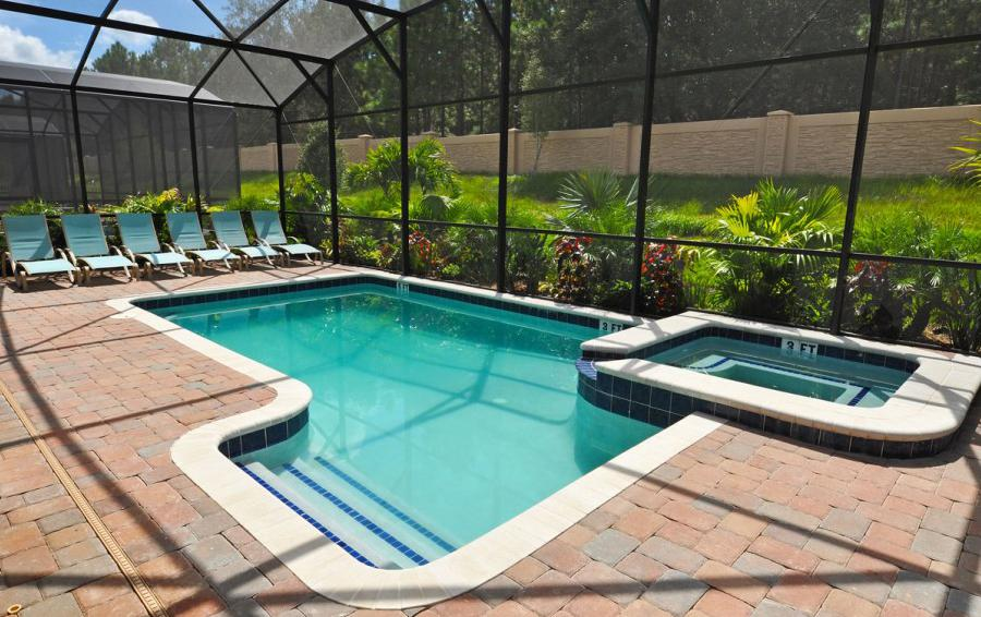 Private pool and Spa with Landscaping - Alidade II - 5 Bedroom Game Room Disney Area Home - Homes4uu