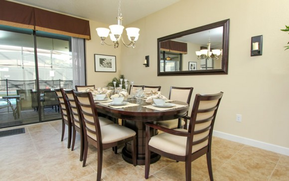 Charthouse II - 8 Bedroom Disney area Private Pool Home Rental -Homes4uu - Dining table