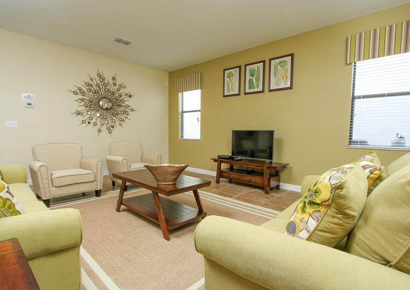 Entertainment Center - Captain's Table - 6 Bedroom Orlando Vacation Home near Disney - Homes4uu