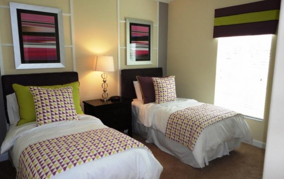 5 Bedroom Paradise Palms Resort Townhome Bedroom with double beds