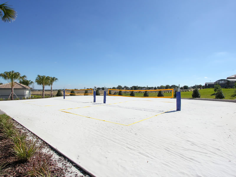 Restful Sea's 6 Bedroom Orlando Vacation Rental Resort Volleyball Sand Area