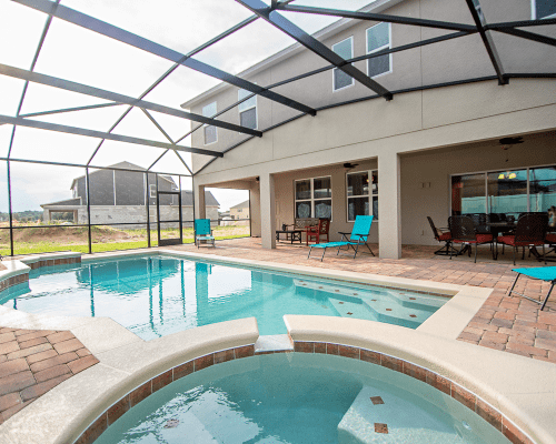 Seascape 7 Bedroom Orlando Vacation Home Pool and Spa