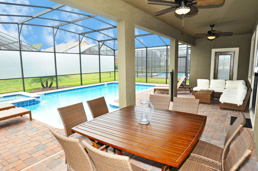 Pool Deck - Icebreaker - 6 Bedroom Orlando Area Vacation Home - Homes4uu
