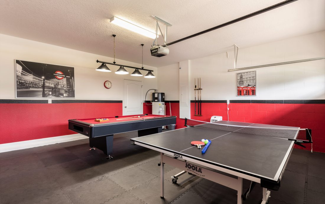 Game Room with Ping Pong - Downhaul 8 Bedroom Vacation Home Near Disney - Championsgate Home - Homes4uu