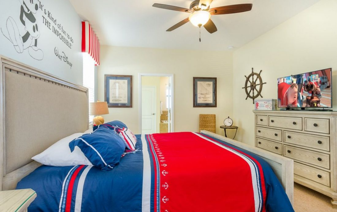 Bedroom 2 Full - Mainbrace - 8 Bedroom Orlando Vacation Home - Homes4uu