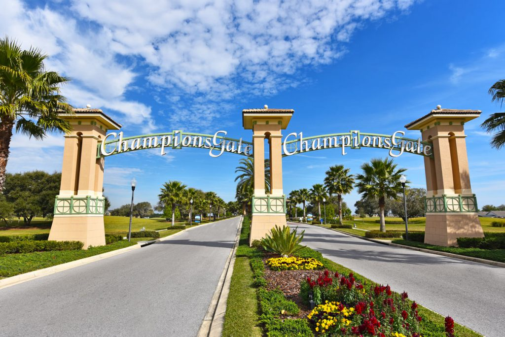 Champions Gate Resort Entrance In Daytime