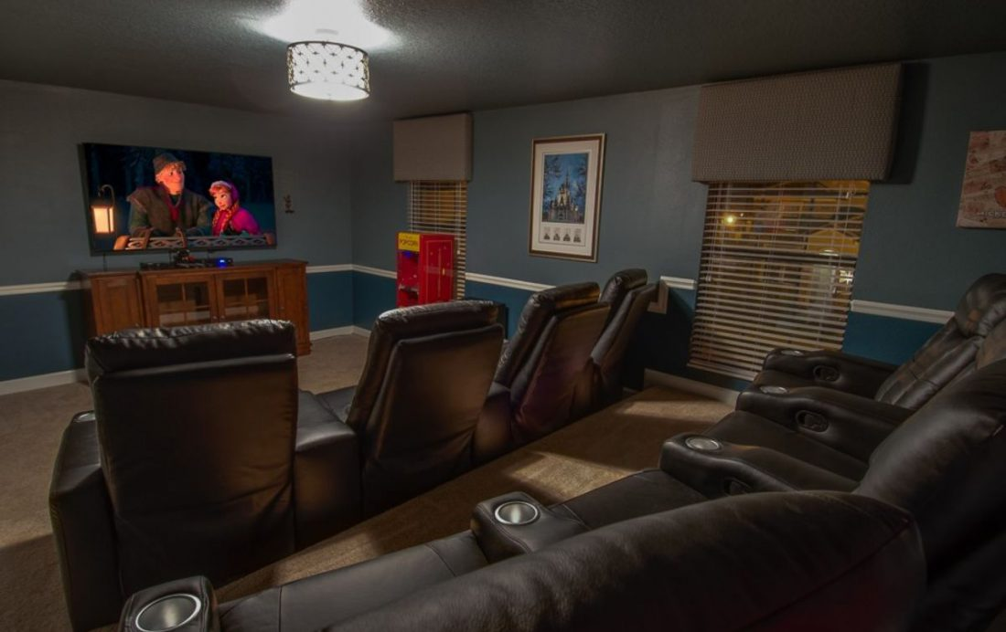 Theater room views - Mainbrace - 8 Bedroom Orlando Vacation Home - Homes4uu