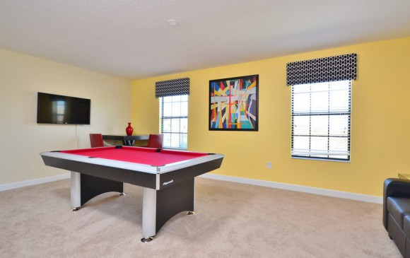 Knotty Buoy - 8 bedroom Disney Area Vacation Home - Homes4uu - Game Room with Pool Table