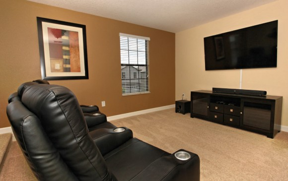 Downhaul 8 Bedroom Vacation Home Near Disney Home Theater Room