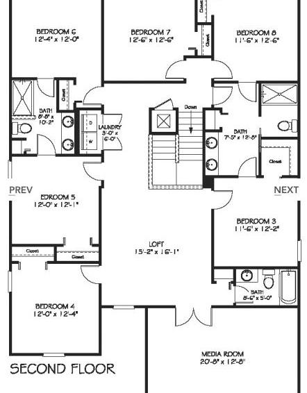 Downhaul 8 Bedroom Vacation Home Near Disney Floorplans