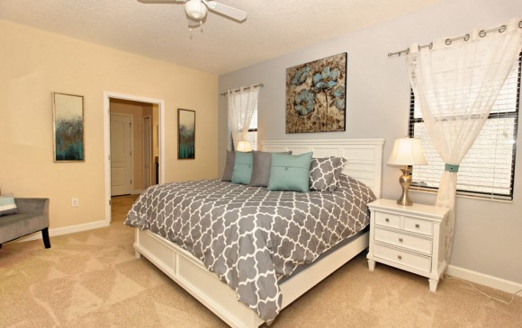 Downhaul 8 Bedroom Vacation Home Near Disney Bedroom with King Bed
