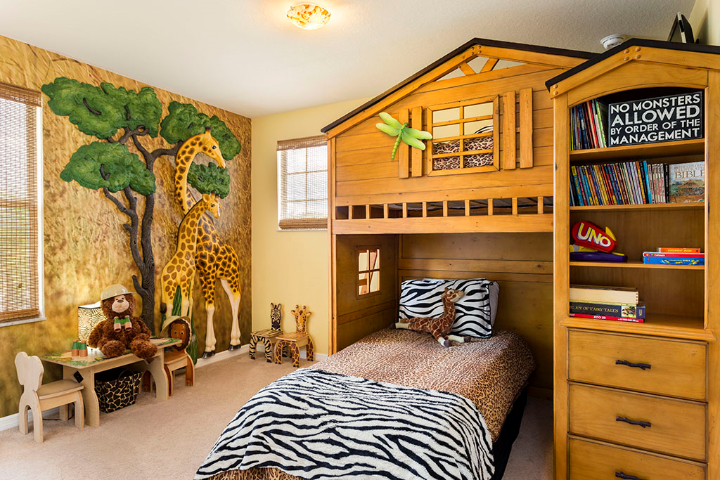 Safari Bedroom - Jungle Jim - 6 Bedroom Orlando Vacation Home near Disney - Homes4uu