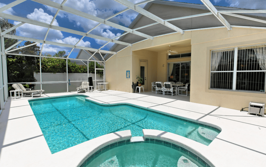 Pool and In Ground Spa - Gunter Rig - 4 bedroom Disney World Area home - Highlands Reserve Golf Community - Homes4uu