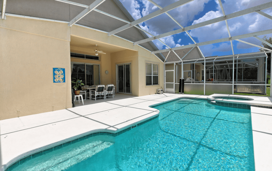 Screened In Pool and Deck - Gunter Rig - 4 bedroom Disney World Area home - Highlands Reserve Golf Community - Homes4uu