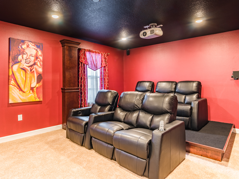 Nadir - 8 bedroom Disney World area home - Homes4uu - Theatre Room