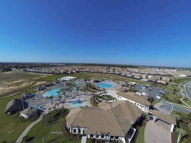 Champions Gate Arial View of the Homes
