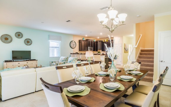 Pearl - 9 Bedroom Champions Gate Home - Homes4uu - Dining Area