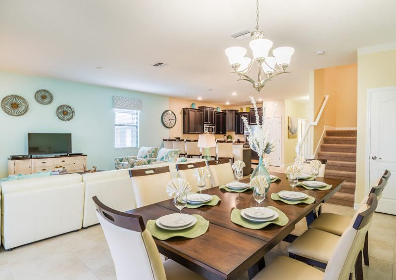 Dining Room - Pearl - 9 Bedroom Champions Gate Home - Homes4uu