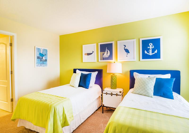Bedroom 6 with a nautical flair - Pearl - 9 Bedroom Champions Gate Home - Homes4uu