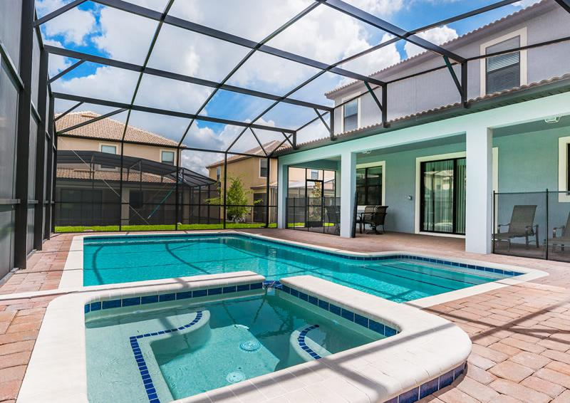 Private Pool and In Ground Spa - Pearl - 9 Bedroom Champions Gate Home - Homes4uu