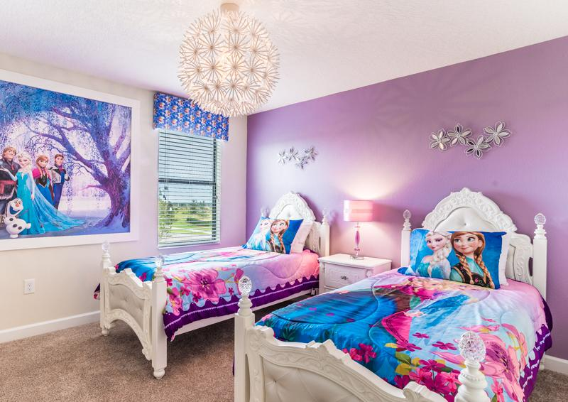 Bedroom 8 Princess Themed Bedroom - Grapeshot Beautiful 9 bedroom Champions Gate Vacation Home - Homes4uu