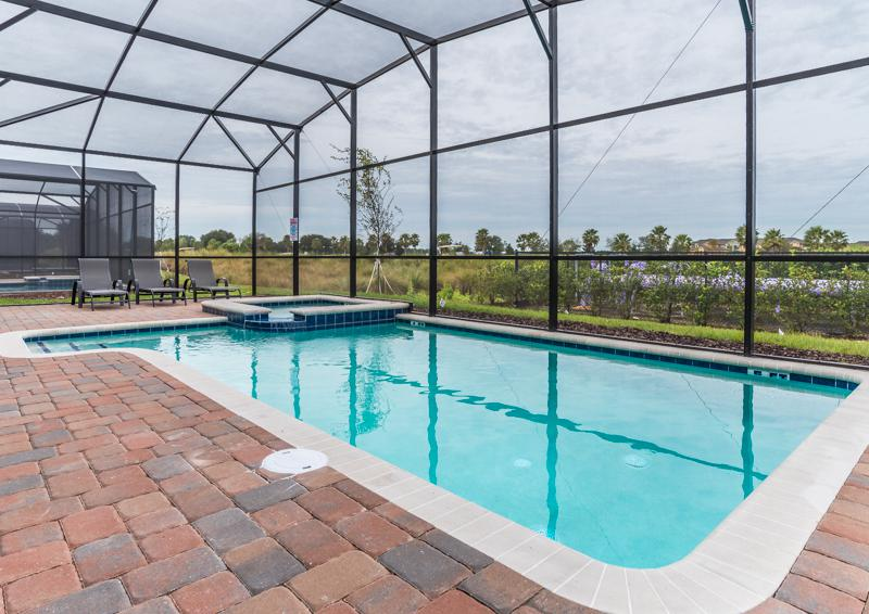 Private Pool and Pool Deck - Grapeshot Beautiful 9 bedroom Champions Gate Vacation Home - Homes4uu