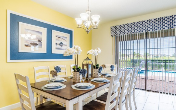 Grapeshot - Homes4uu - Beautiful 9 bedroom Champions Gate Vacation Home - Dining Area View 2