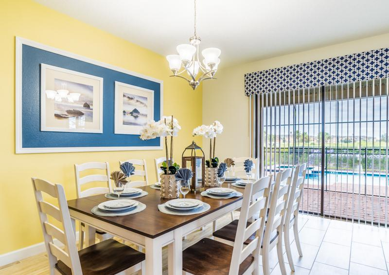 Dining Area - Grapeshot Beautiful 9 bedroom Champions Gate Vacation Home - Homes4uu