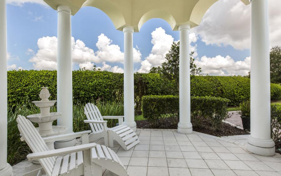 Gazebo and fountain - Reunion Retreat Admiral 7 Bedroom Luxury Reunion Disney Area Vacation Home - Homes4uu